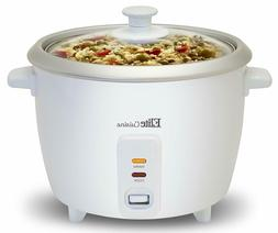 Elite Cuisine - Deluxe 6-Cup Rice Cooker - White