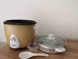 Elite Gourmet 1.5L Electric Rice Cooker with Stainless Steel
