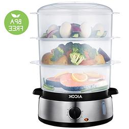 AICOK Food Steamer 9.5 Quart Vegetable Steamer, 800W Fast He