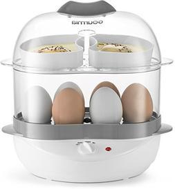 Gourmia GEC275 2 Layer Electric Egg Cooker - Soft, Medium, o