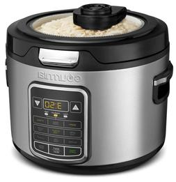 Gourmia GRC970 11-in-1 Digital 20-Cup Rice Cooker | Clear Gl