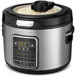 Gourmia Rice Cookers GRC970 11-in-1 Digital 20-Cup Clear Gla