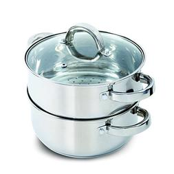 Oster Hali Steamer Set with Lid for Stovetop Use, Stainless