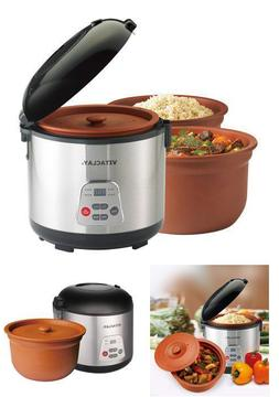 High Fired Vitaclay 2 In 1 Rice N Slow Cooker In Clay Pot Ch
