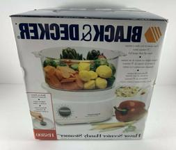 Black and Decker HS800 Handy Steamer Plus Food Steamer and R