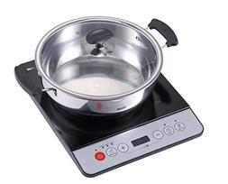 Midea 1500W Induction cooktop cooker with stainless steel po