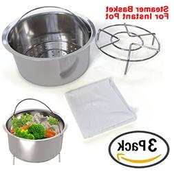 Instant Pot Accessories, Vegetable Steamer, Fits Insta Pot &
