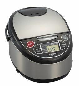 Tiger JAX-T10U-K 5.5-Cup Micom Rice Cooker with Food Steamer