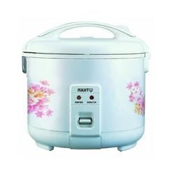 Tiger JNP-1800-FL 10-Cup  Rice Cooker and Warmer, Floral Whi