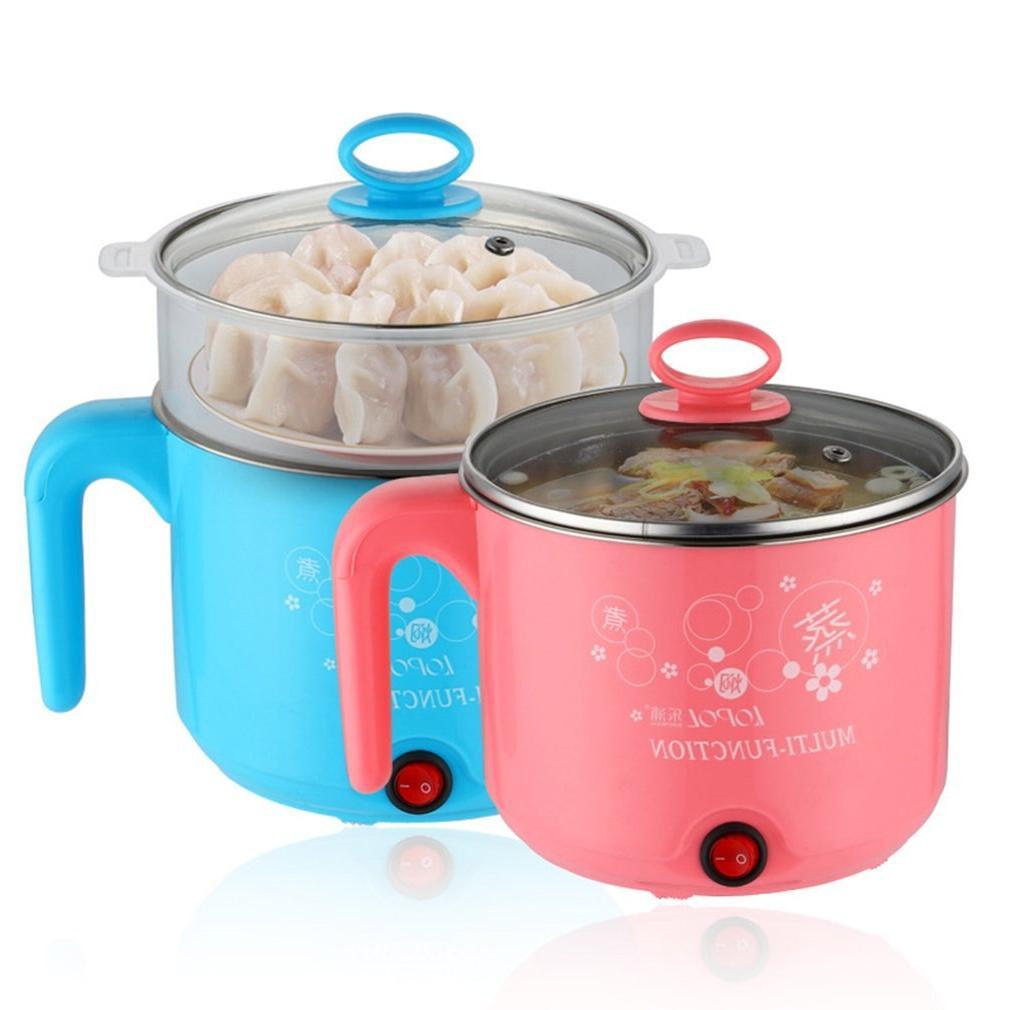 1.8L Electric Steel Noodles Pots <font><b>Rice</b></font> Eggs Soup Pots