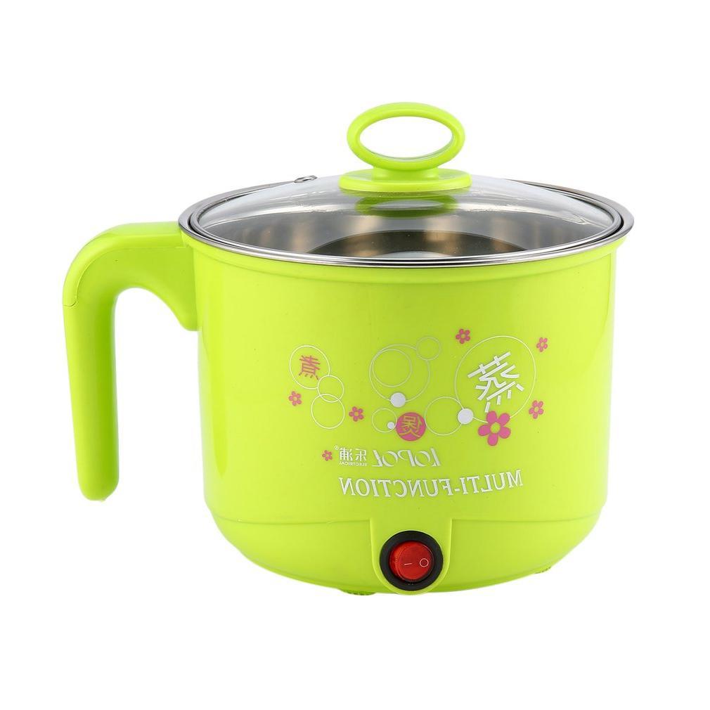 1.8L Electric with <font><b>Steamer</b></font> Steel Hot Pot Noodles Pots <font><b>Cooker</b></font> Steamed
