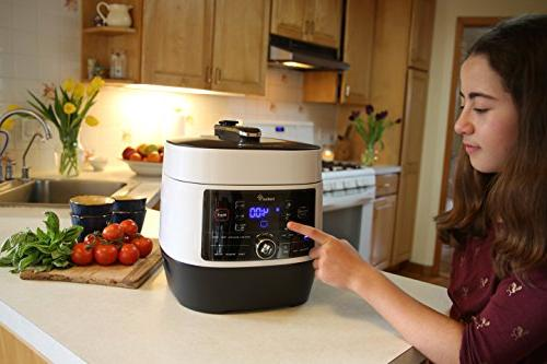 Ivation 8-In-1 Pressure Cooker; Slow Cooker, Grade Q Pot, Preset Power