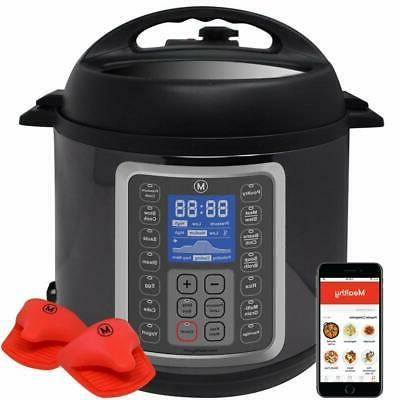 9 in 1 Programmable Pressure Slow Cooker 6 Quarts Cook 2 Dis