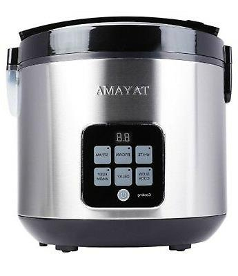 10 cup digital rice cooker and food