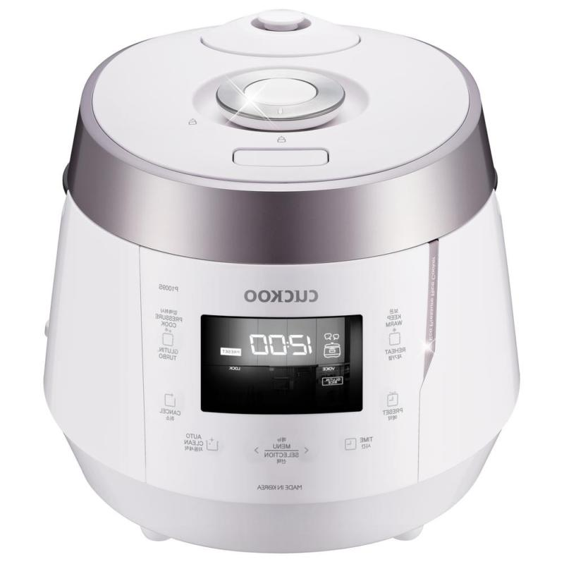 Cuckoo 10-Cup High Pressure Rice Cooker Stainless Steel Home