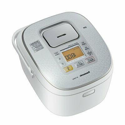 10 cups 1.8L: Panasonic IH Rice Cooker Steamer White 220V SR
