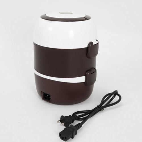 3 Portable Rice Cooker Steamer Stainless Steel 110V 2L