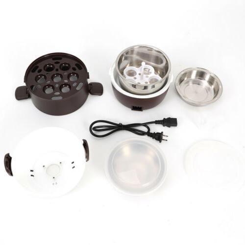 3 Portable Rice Cooker Steamer Stainless Inner Pot 110V