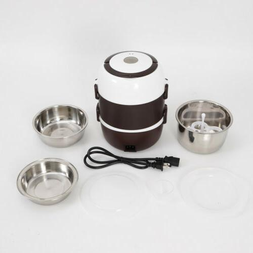 3 Lunch Box Portable Rice Stainless 110V