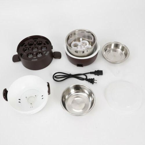 3 Lunch Box Steamer Rice Cooker Stainless Steel