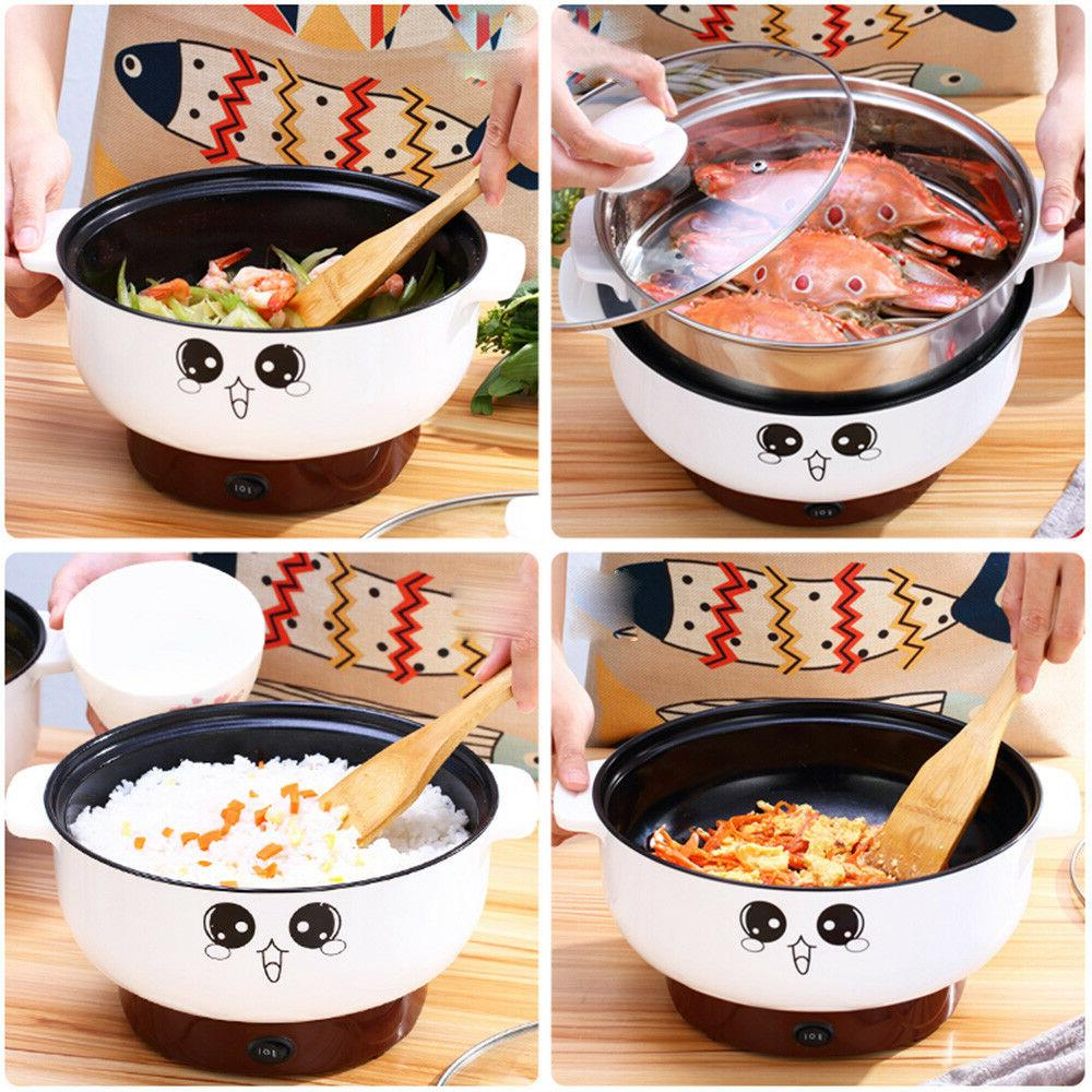 220V Stainless Steel Electric Cooker with Steamer Hot Pot Ri
