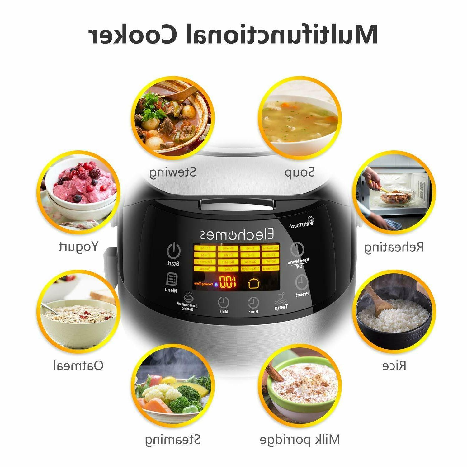 16 in Function LED Rice Cooker w/Steam New