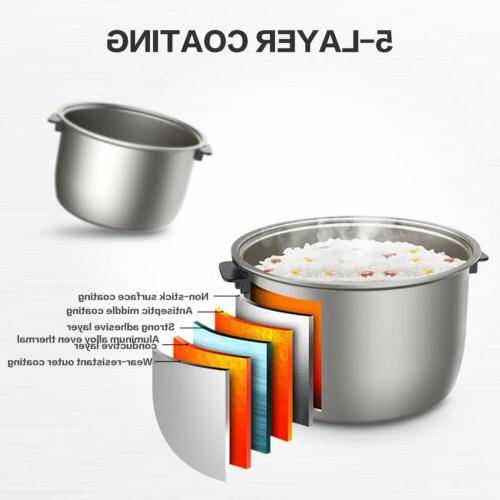 Elechomes LED Touch Control Electric Rice Cooker Uncooked