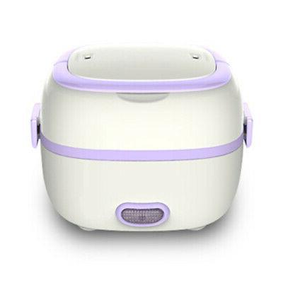1L Electric Lunch Box Cooker Portable Food Steamer