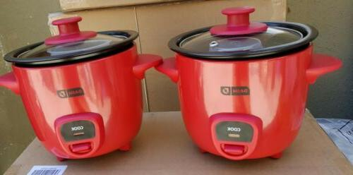 2 piece mini rice cooker drcm100rd red