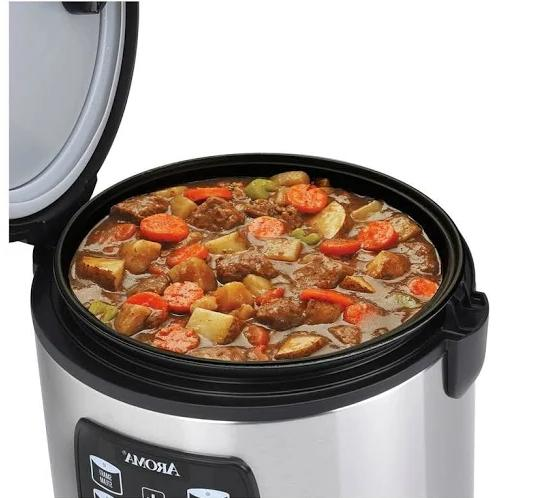 20-Cup Rice Cooker,Stainless Steel,Fast,Many