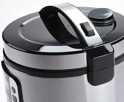AROMA 20-Cup Rice Cooker Steamer Black/Stainless