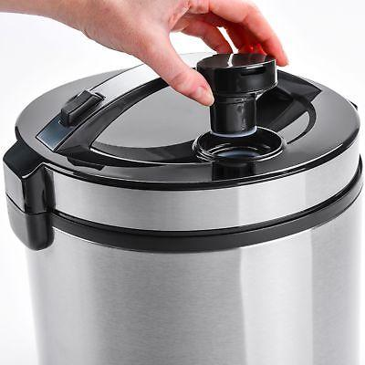 AROMA - 20-Cup Cooker Steamer Black/Stainless Steel