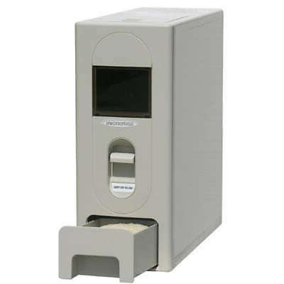 22 pound capacity rice dispenser white