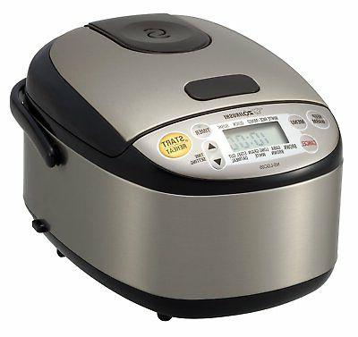 Rice Cooker 3 Cup Warmer Black Stainless Steel Exterior Remo