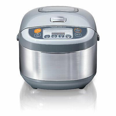Hamilton 37570 Quart Bowl Multi Rice Cooker, Steel