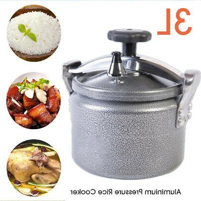 3L Aluminium Pressure Cooker Stovetop Pot Outdoor Travel