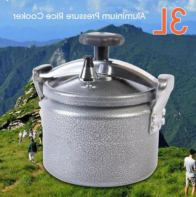 3L  Aluminium Pressure Rice Cooker Stovetop Cooking Pot Outd