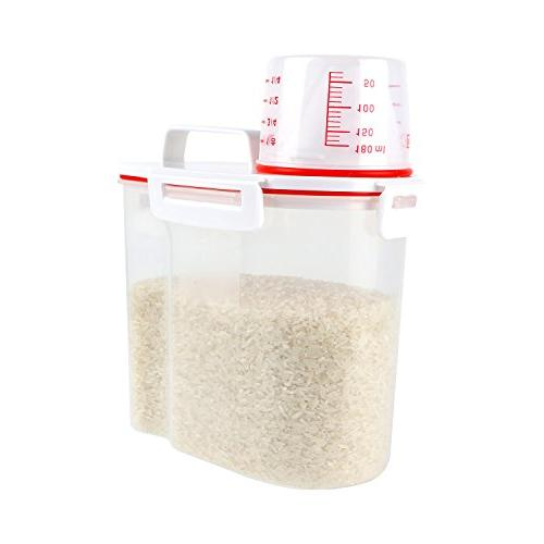 4 buckles rice storage container