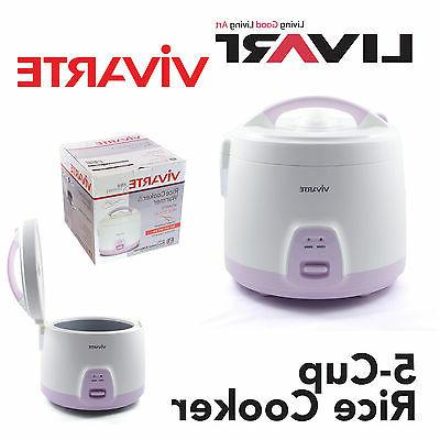 5 Cup Rice Cooker by Vivarte - Non Stick Cooking Pot BRAND N