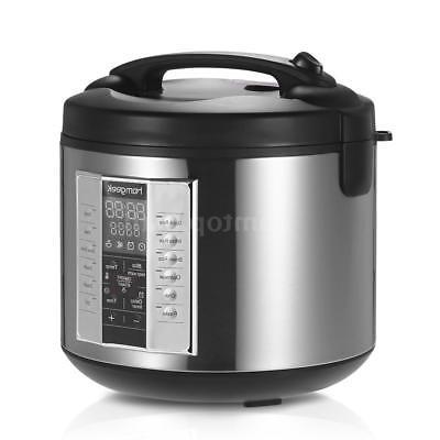 Homgeek 5L 20 Cup Cooked  Rice Cooker Warmer Stainless Steel