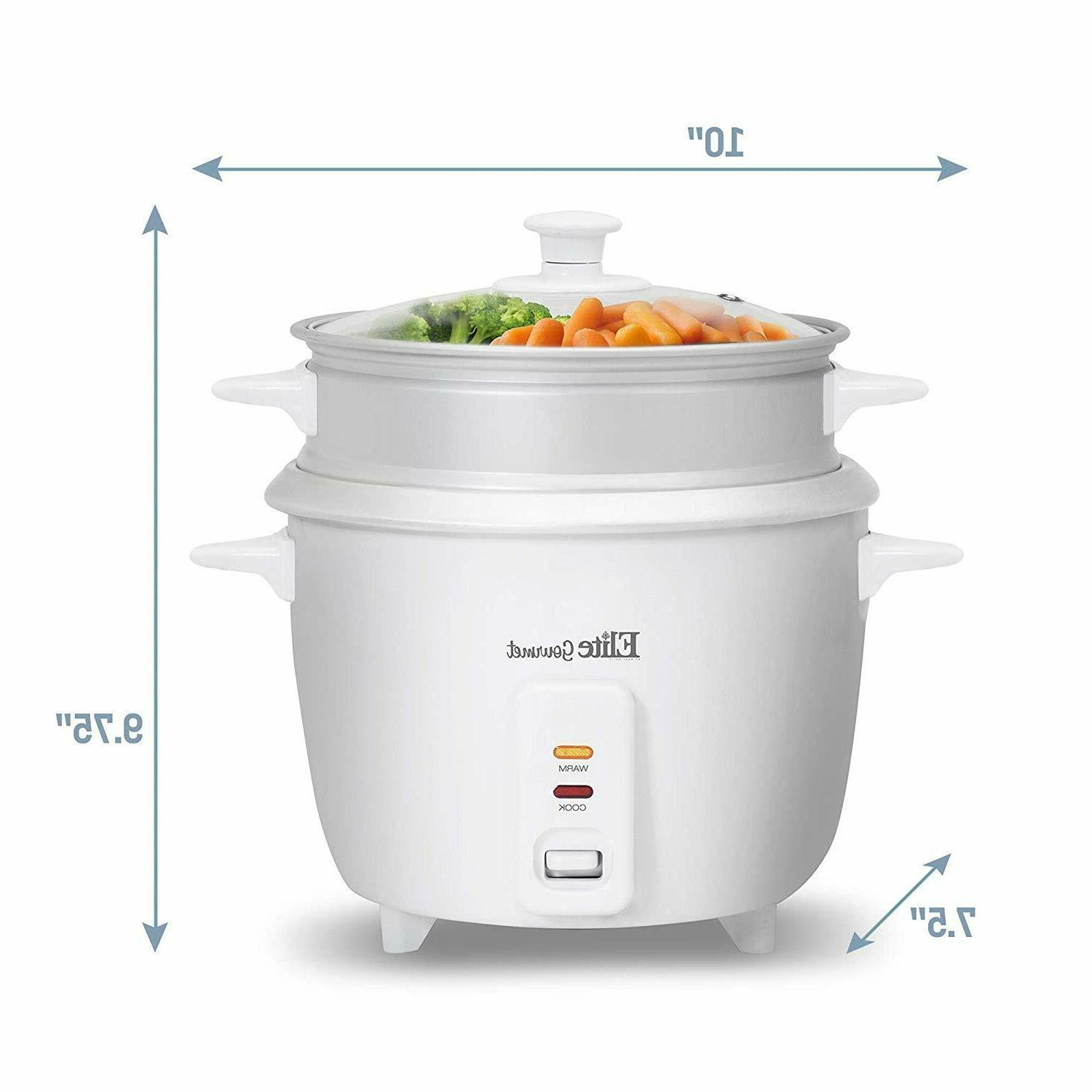 6 Cup Rice with Steamer Automatic Warm Makes Stews, Grains
