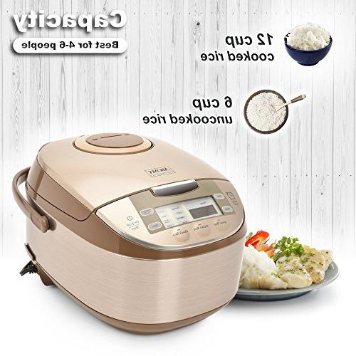 Aroma Housewares ARC-6106 Aroma Professional Rice, Slow Cooker, Steamer, MultiCooker, 12,