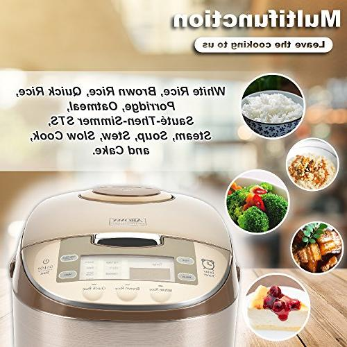 Aroma Professional 6 Cups Rice, Steamer, MultiCooker,