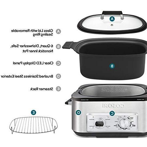 COSORI 11-in-1 Programmable Multi-Cooker Pot, Cooker, Saute, Steamer, Maker, Auto-Warmer, Delay 86°F-400°F, Stainless 2-Year Warranty