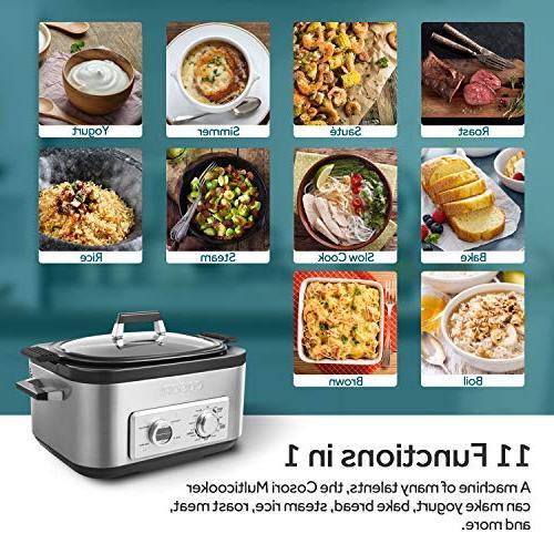 COSORI Programmable Slow Cooker, Rice Cooker, Saute, Boil, Maker, Auto-Warmer, Delay 86°F-400°F, Cookbook, 2-Year Warranty