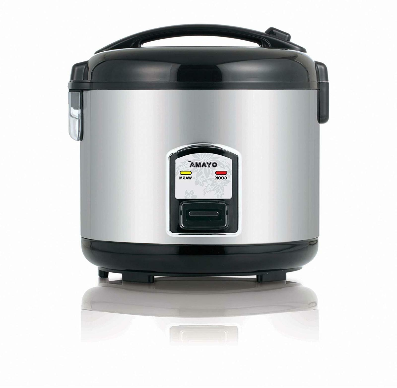 7 Cup Rice Cooker, Cooking Bowl with Layered Stainless