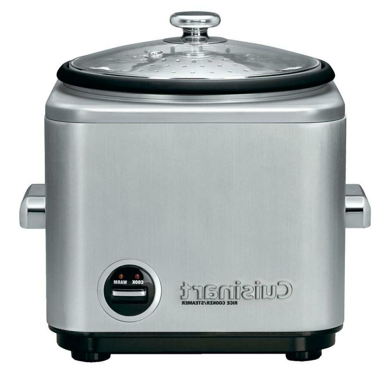 8-Cup Steel Cooker With Cord Storage And