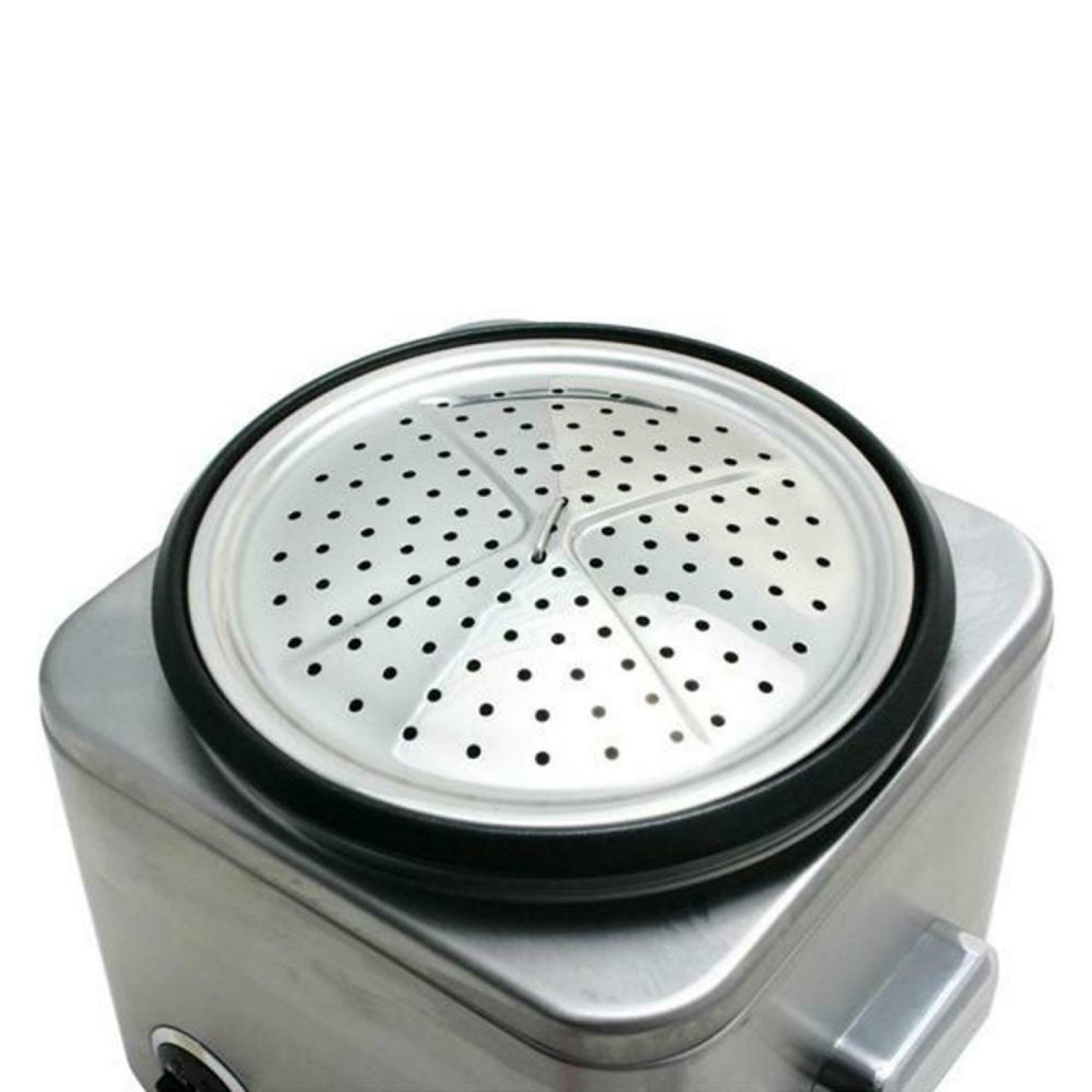 8-Cup Stainless Steel Rice Cooker And Automatic Keep-Warm