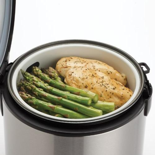 Aroma Digital Rice Cooker Food Steamer, Stainless