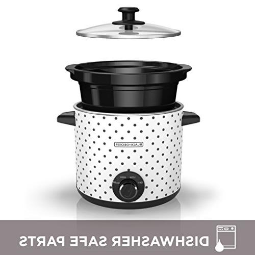 Black & Slow Cooker, Black/White,